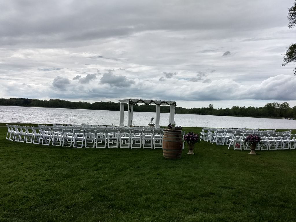 On the Waters edge wedding
