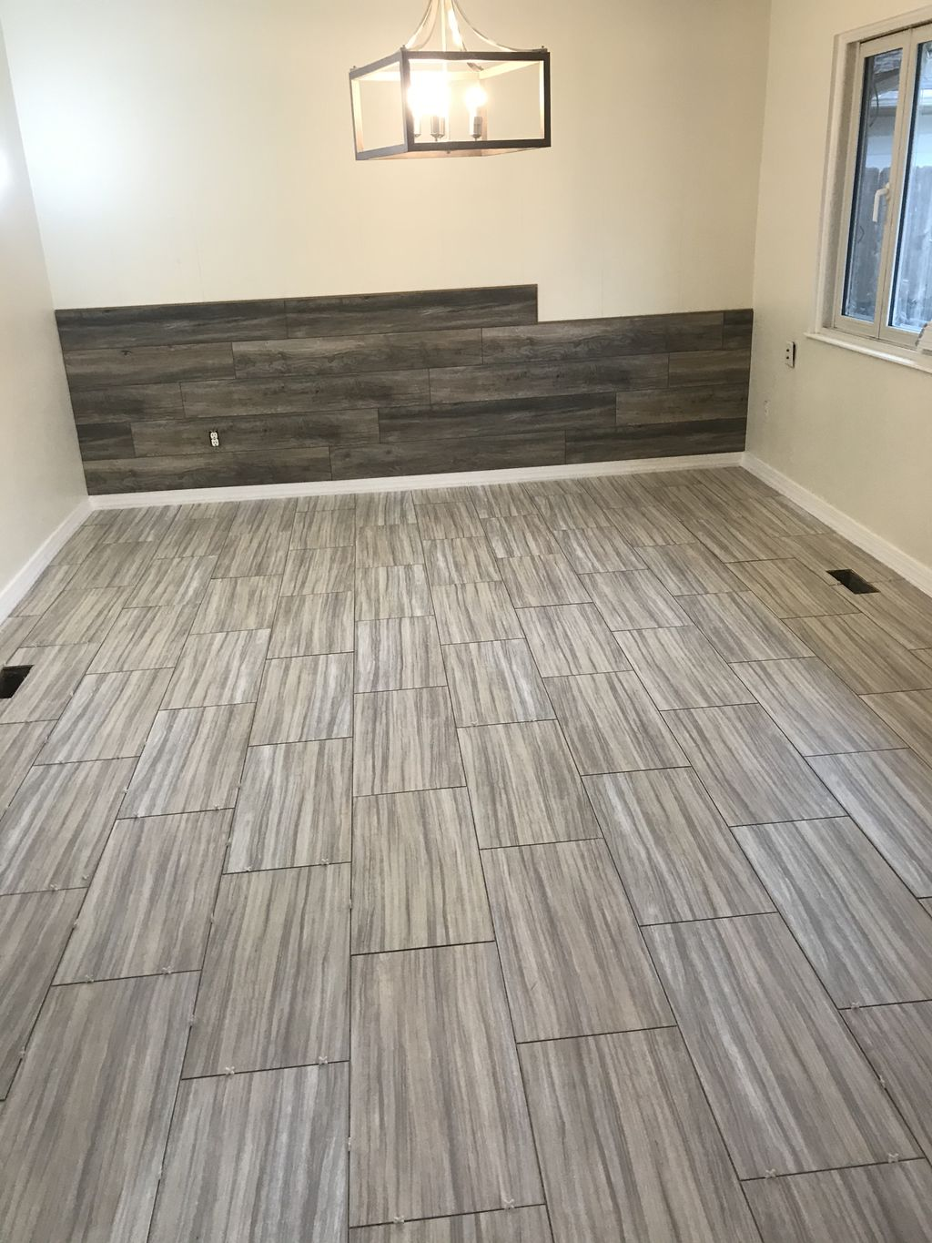 Accent wall and floor