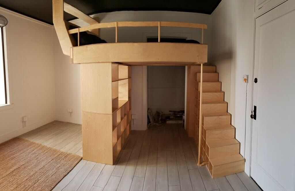 Custom Loft Bed, Desk, Armoire and Storage in Long Beach