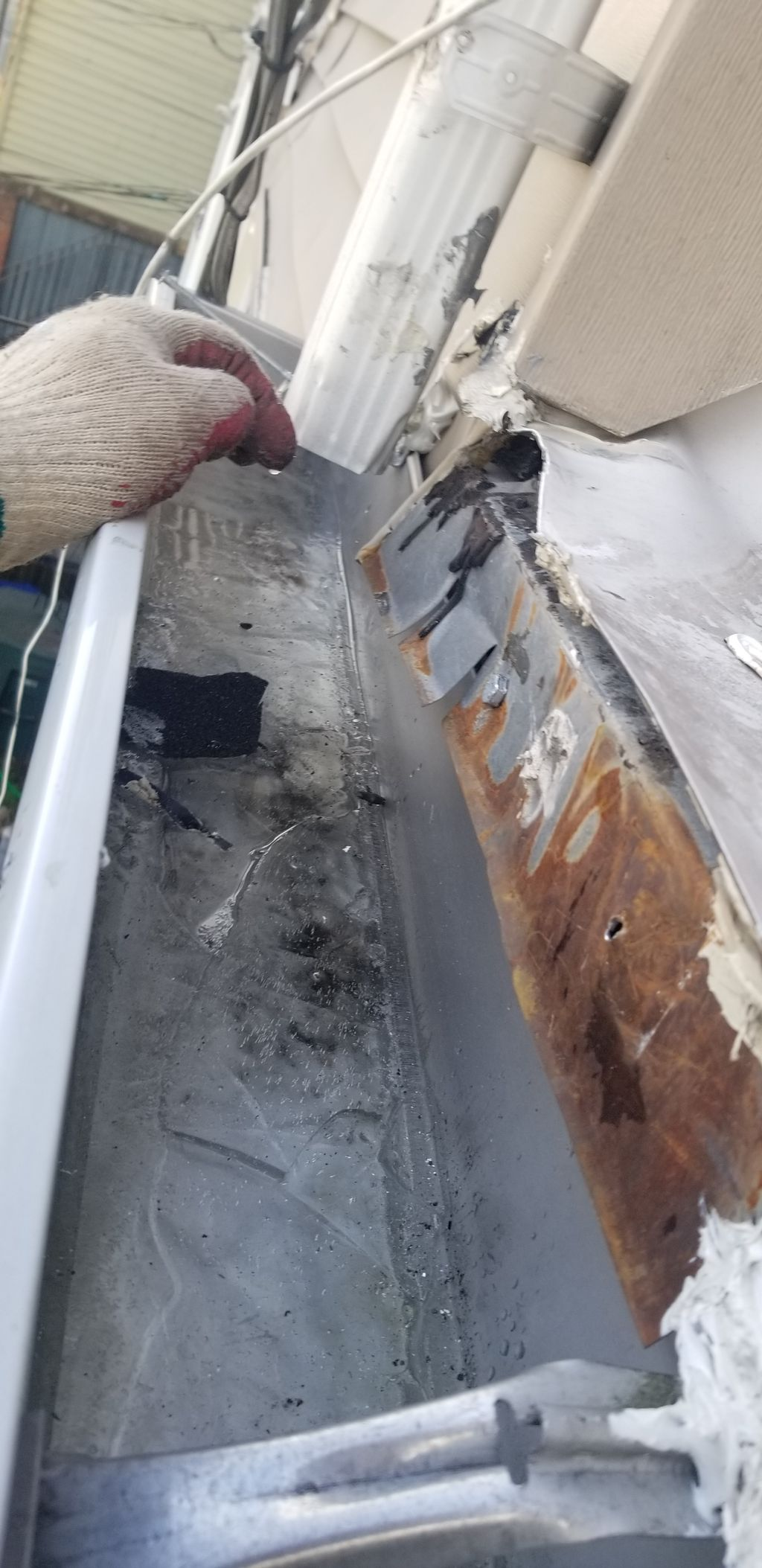 Gutter and drip edge  repair wrong slope