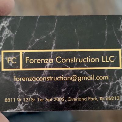 Avatar for Forenza Construction LLC Overland Park, KS Thumbtack