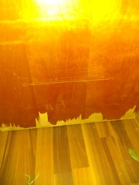Closet door repair and refinishing
