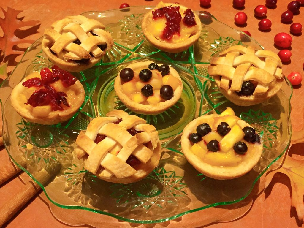 Peach & Blueberry Mini Pies