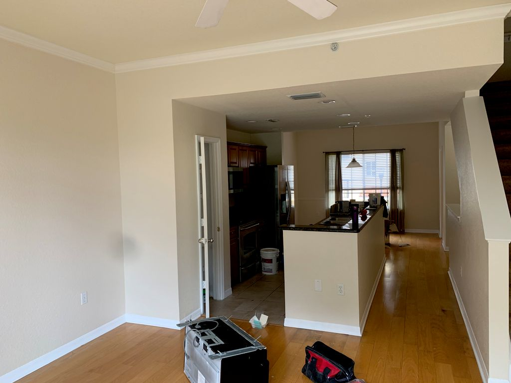 Trim and walls painting