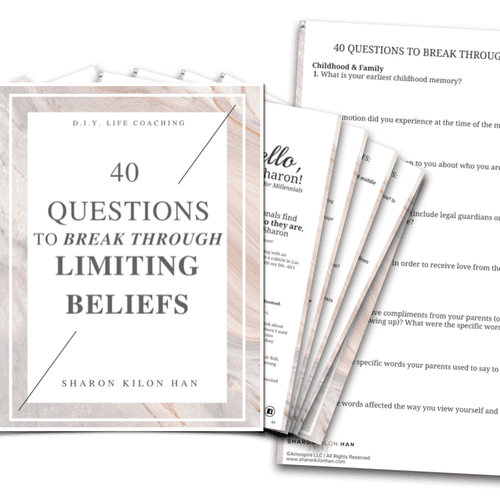UGH are limiting beliefs keeping you from living your best life? This is the ULTIMATE worksheet help you have your breakthrough moment!