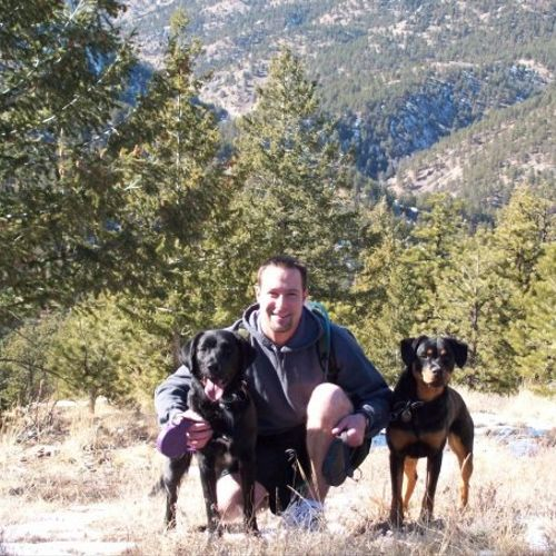 Hiking with Madi and Charlie :) Great mental and physical enrichment!