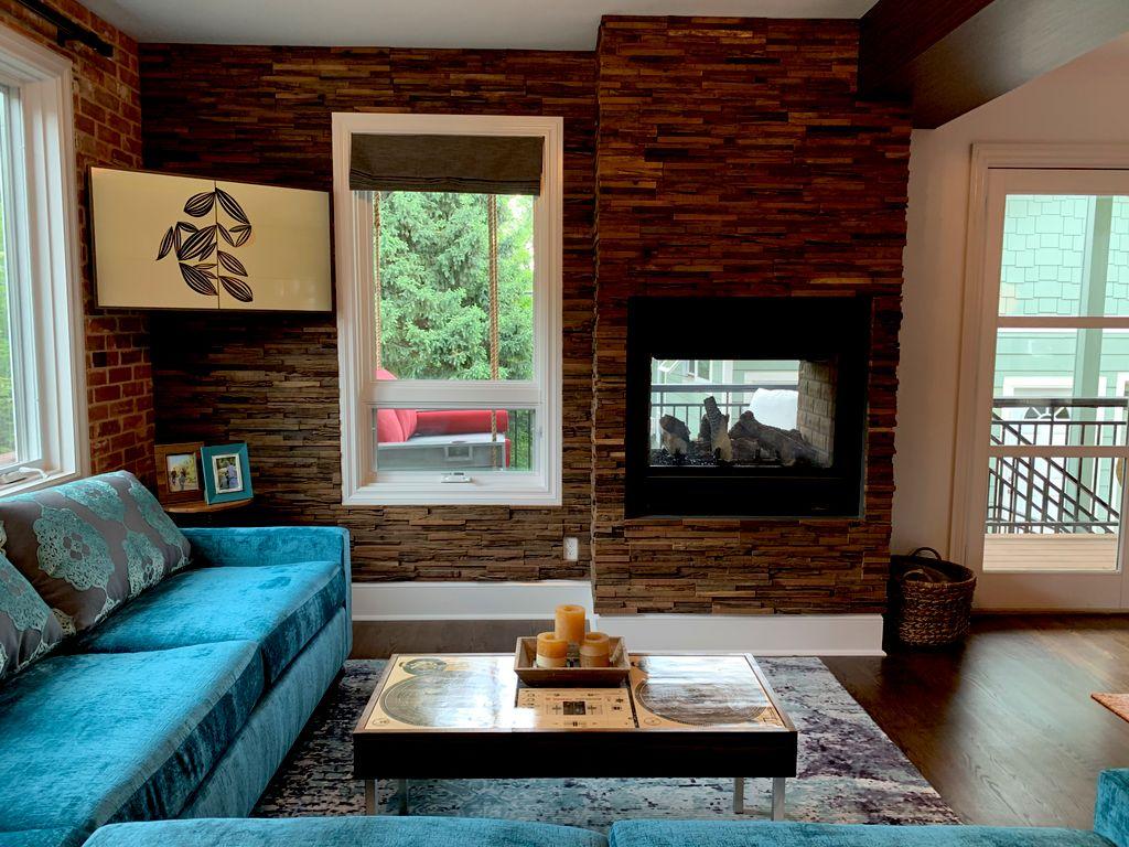 Reclaimed Wood Wall Installation
