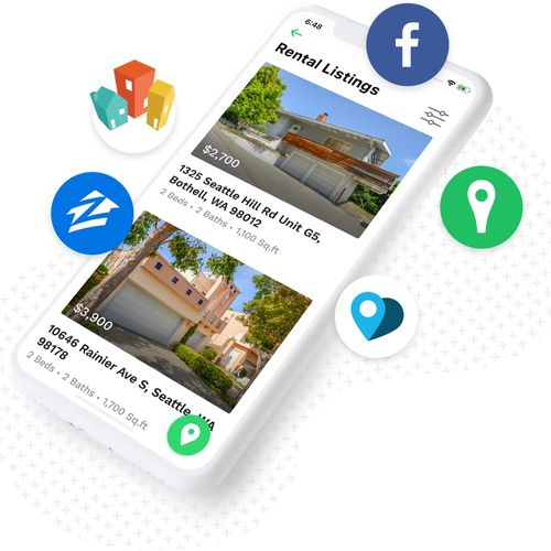 We list your home on 40+ websites including Zillow, Trulia, Facebook Ads.