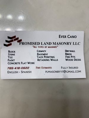 Avatar for Promised Land Masonry  & Contracting LLC