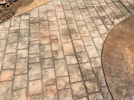 Stamped paver design.