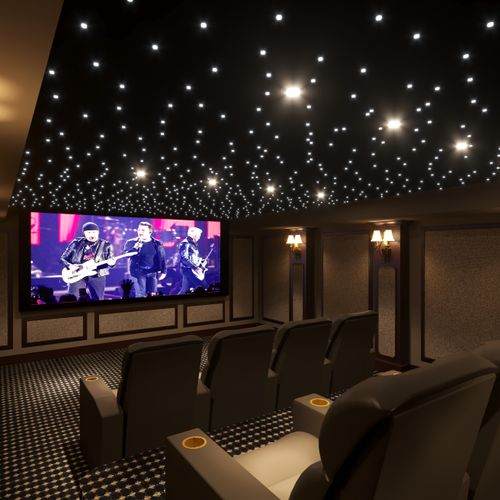 Home Theater Rendering and Design Project