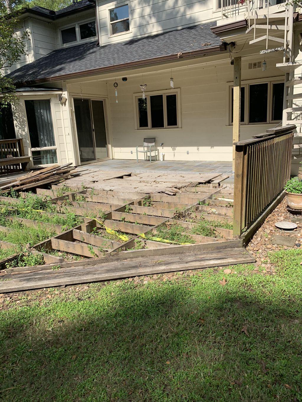 Deck demo and rebuild