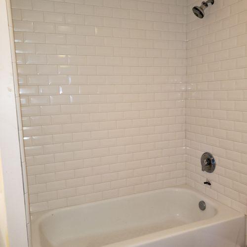 Partial bathroom remodel