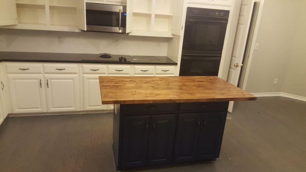 Kitchen island renovation