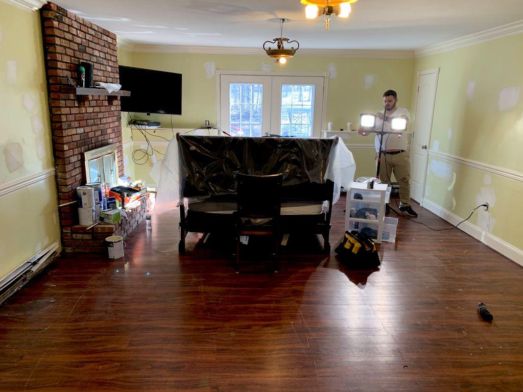 Basement painting and vinyl  laminate install