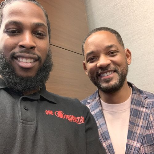 Will Smith and I at the MLK Salute to Greatness Dinner