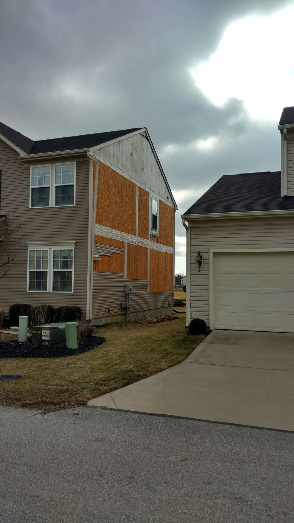 Siding repair from wind damage