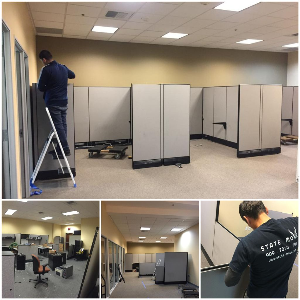 Cubicles assembly, disassembly, office moving