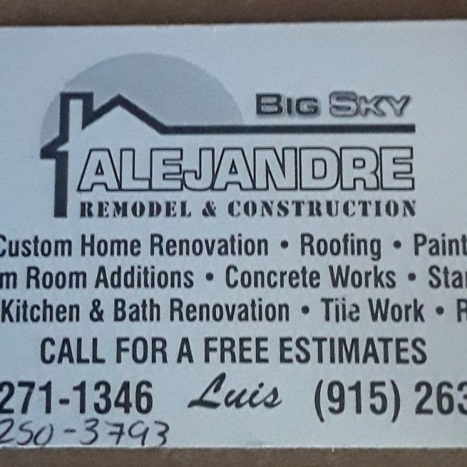 BIG SKY Remodel and construction