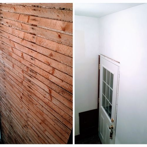 Plaster Replaced with Drywall