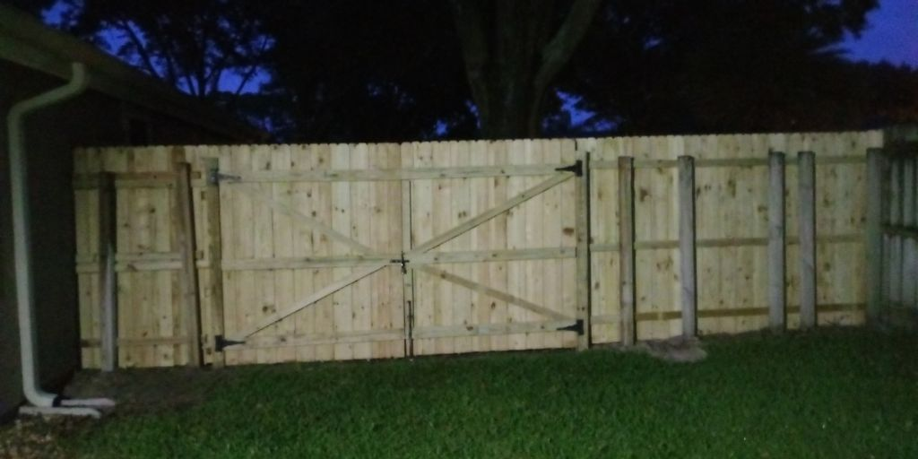 Fencing and cabinet installation