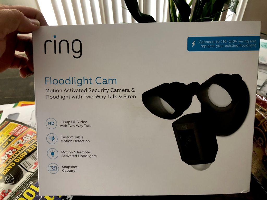 Run new wiring and installation of Ring Camera Flood Light