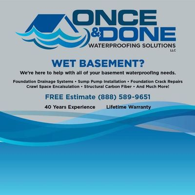 Avatar for Once & Done Waterproofing Solutions