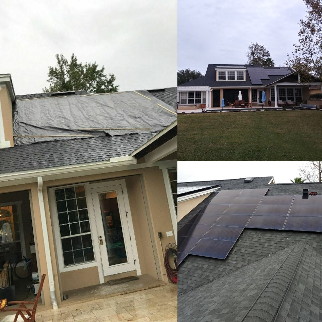 Insurance paid for roof and then added solar