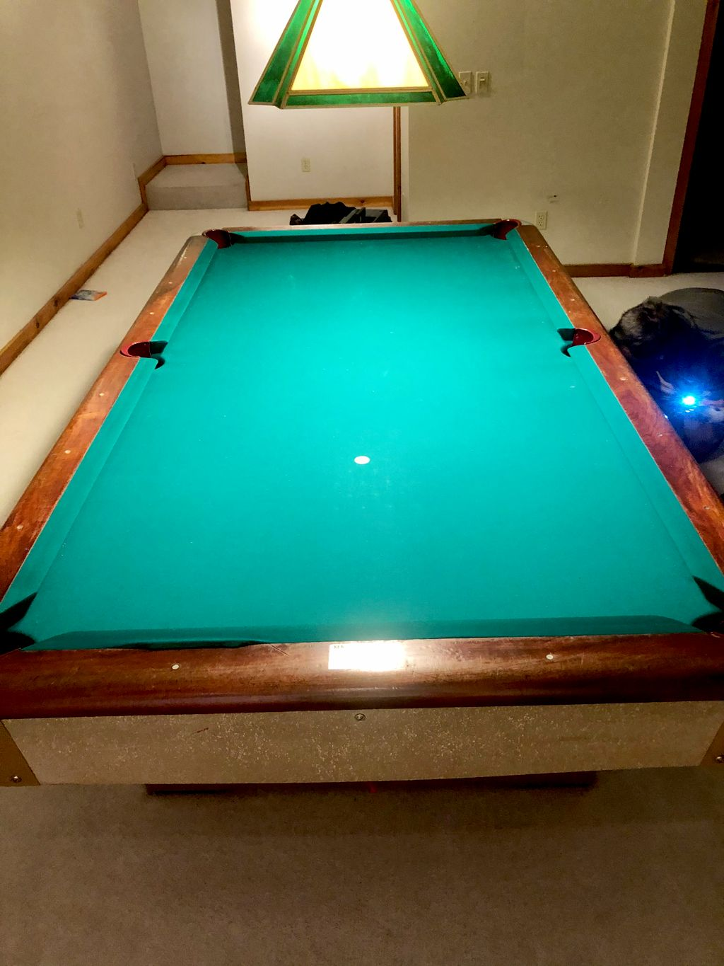 1965 Pool table move and changed felt