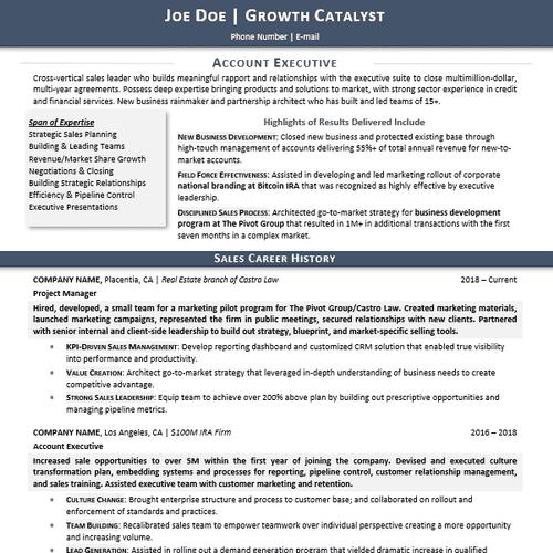 Sample Resume No. 1
