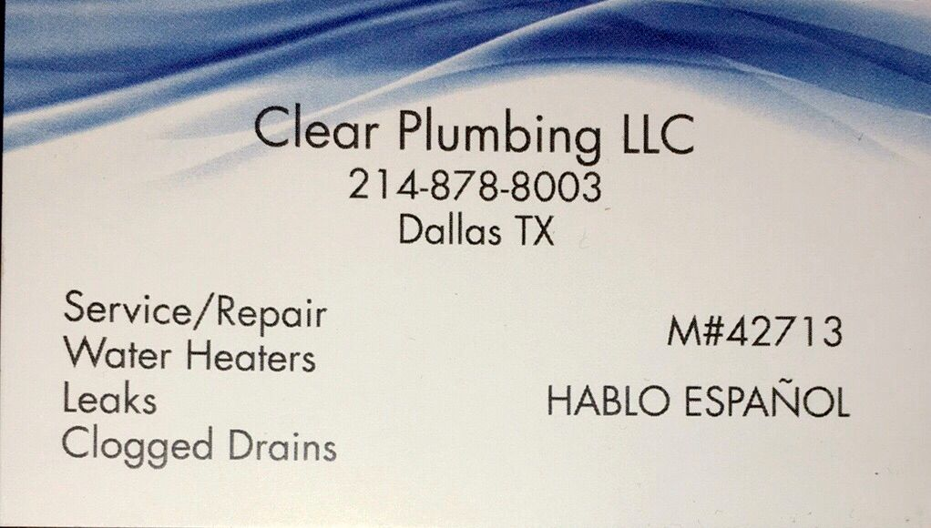 Clear Plumbing LLC