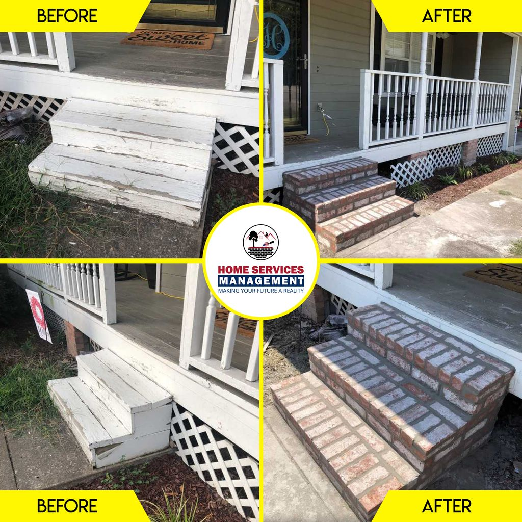 Tore Down Old Steps and Replaced Front Porch Steps