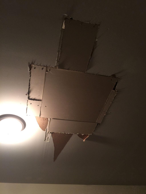 Homeowner started Drywall repair