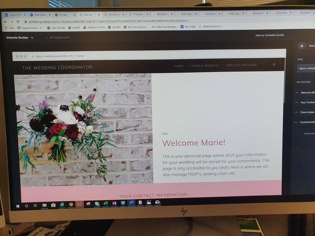 New Bride Account Setup