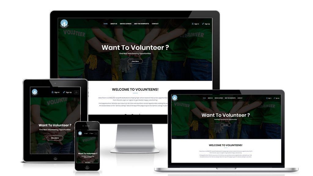Volunteens  - Non-profit website 2020