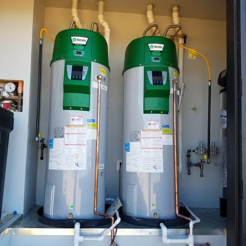 This was a special request for a dual water heater installation.
