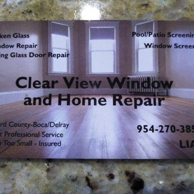 Avatar for Clear View Window and Home Repair, LLC Pompano Beach, FL Thumbtack
