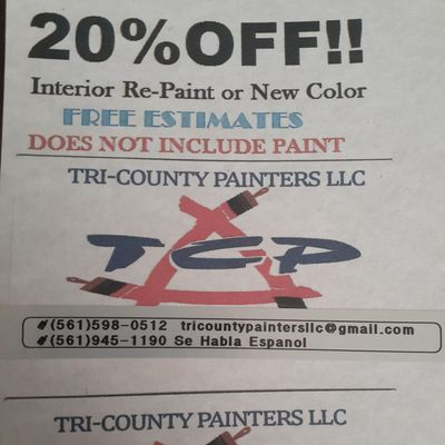 Avatar for Tri-County Painters LLC Boca Raton, FL Thumbtack