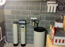 Twin tank water softener installation