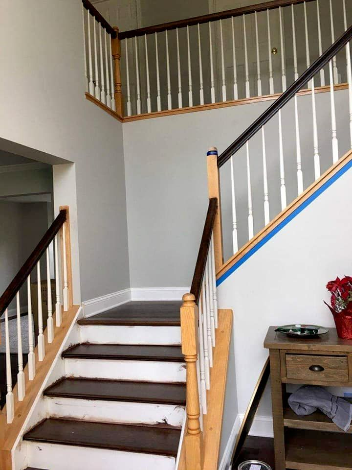 foyer stairs spindles and rails