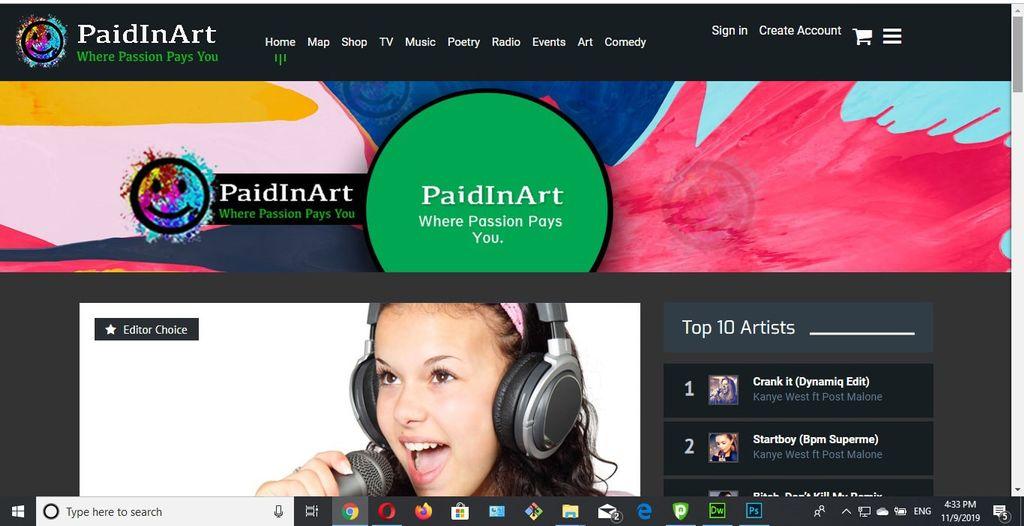 Paidinart Site