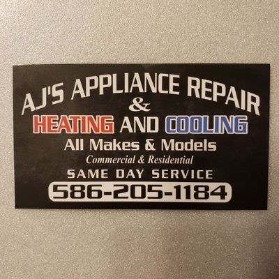Avatar for Aj's Appliance Repair & heating and cooling Clinton Township, MI Thumbtack