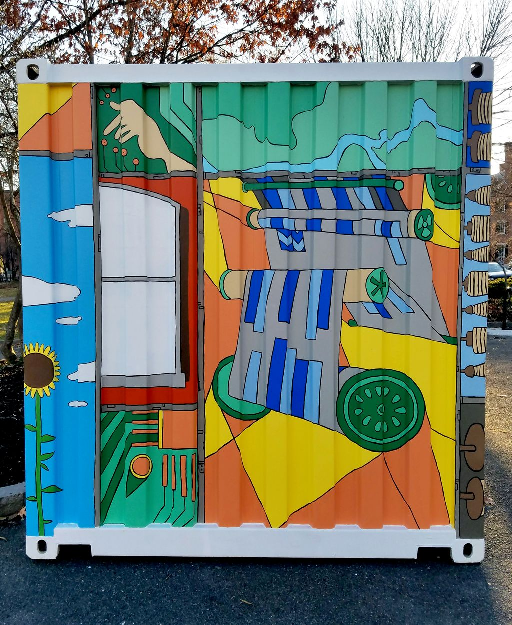 Kerouac Park Container Mural