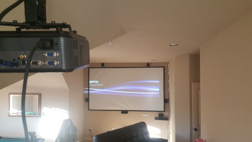 Projector Screen and Surround Sound