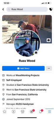 Avatar for Russ Handyman and Construction Hayward, CA Thumbtack