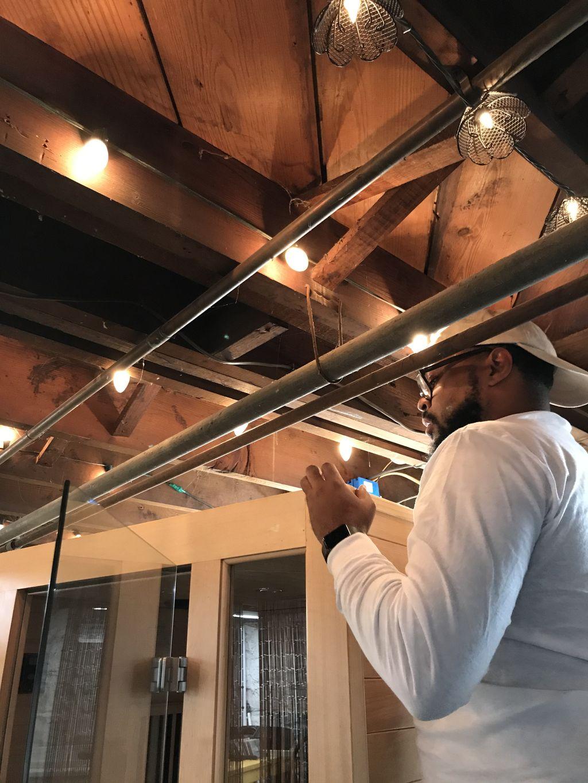 Indoor Sauna Construction