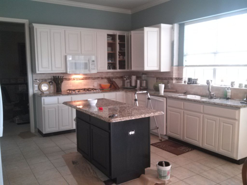 Painting cabinets and kitchen