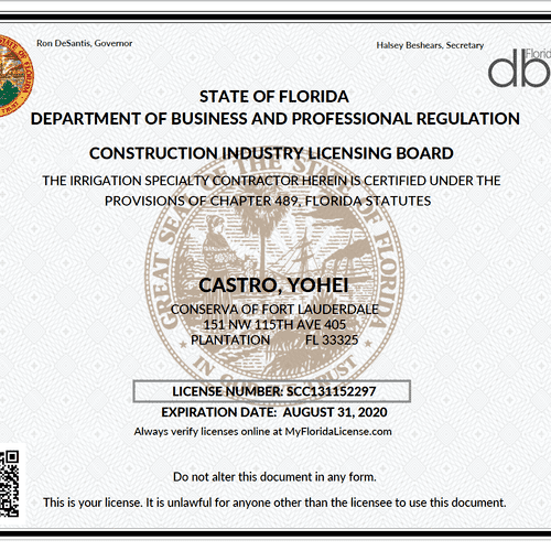 State of Florida License