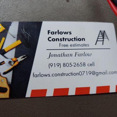 Avatar for Farlow Construction Apex, NC Thumbtack