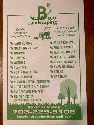 Avatar for Beco Landscaping Alexandria, VA Thumbtack